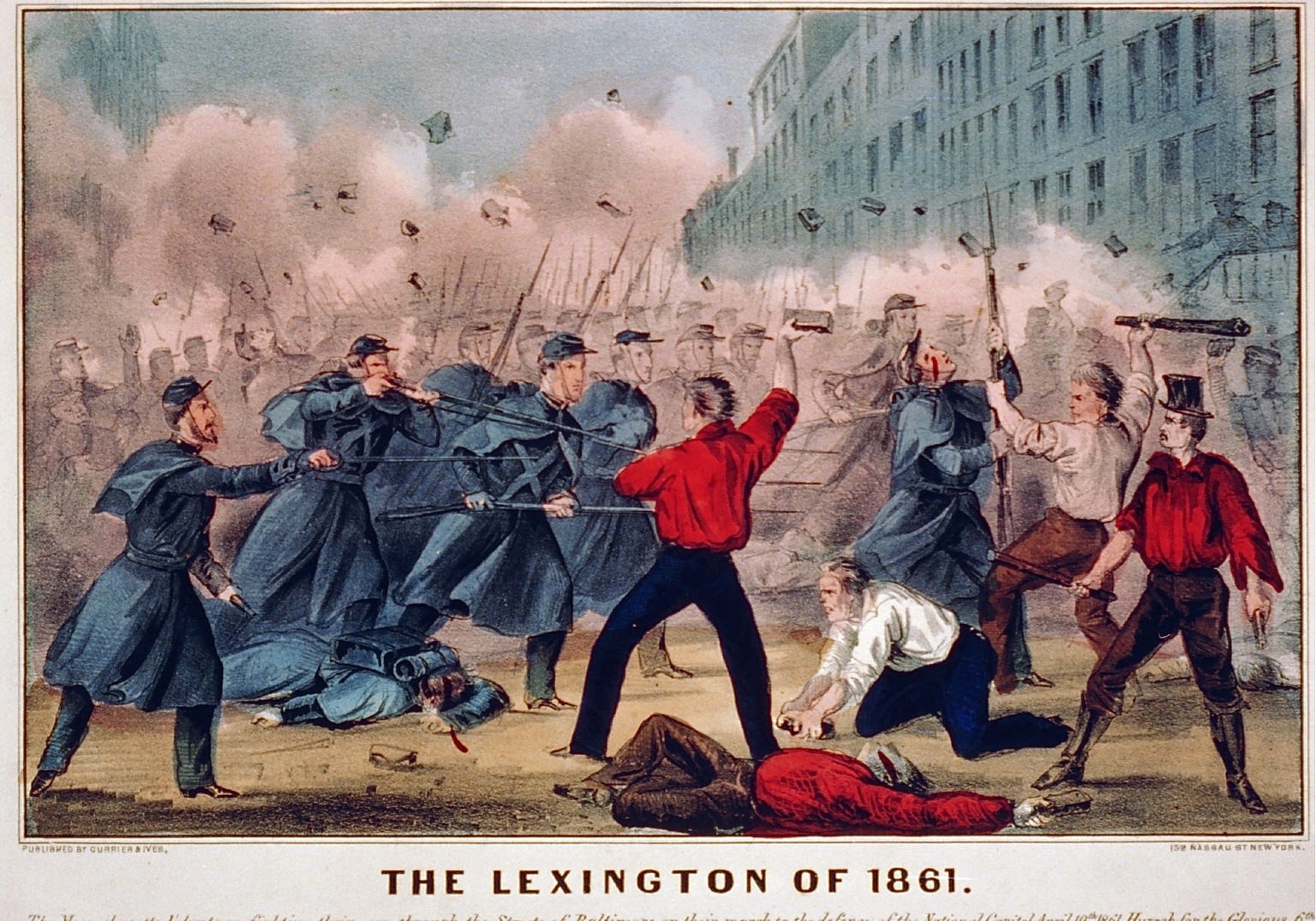 Lexington of 1861 Currier & Ives engraving
